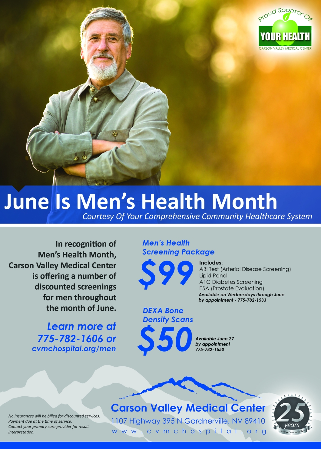 CVMC Men's Health Month Ad