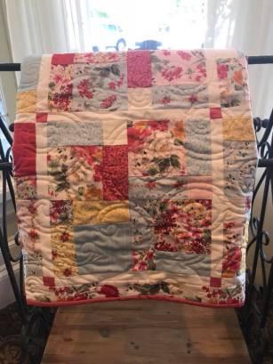 Handmade quilt.