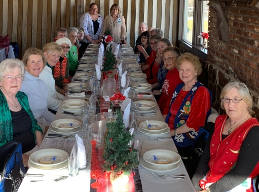 Members of the CVMC Auxiliary during the 2018 Holiday Lunch.
