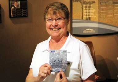 Debbie L. was the first Golden Sock winner for Carson Valley Medical Center.