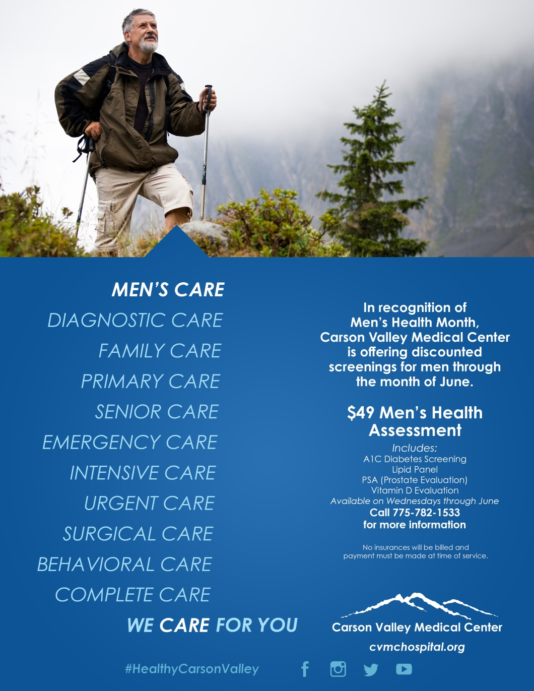 Men's Health Month Flyer 2019
