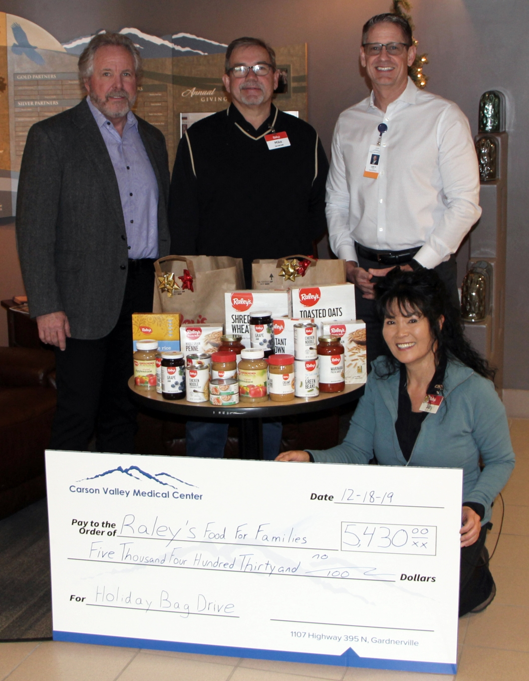 Raleys Food For Families Donation 121819